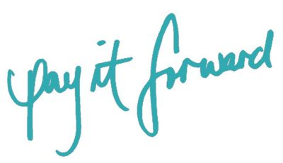 Pay It Forward handwritten graphic title.